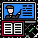 Elearning Book Screen Icon