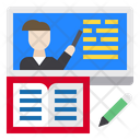 Elearning Book Screen Icon