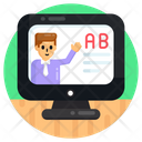 Virtual Teaching Online Teaching Online Tutor Icon