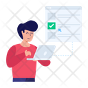 Virtual Test Online Test Online Quiz Icon