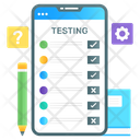 Online Testing Online Questionnaire Mobile Checklist Icon