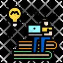 Elearning Man Laptop Icon