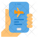 Ticket Airplane Flight Icon