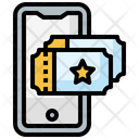 Ticket Communications Smartphone Icon