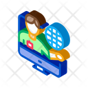 Online Computer Guide Icon