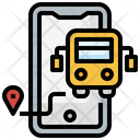 Online Track Bus Route Icon