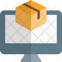Online Tracking Online Delivery Package Icon