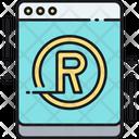 Online Trademark Treademark Website Icon
