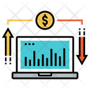 Online Trading Stock Market Online Monitoring System Icon