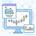 Business Website Data Chart Online Data Icon