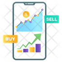 Online Trading Online Sales Mobile Trading Icon