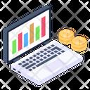 Data Analytics Online Trading Online Analysis Icon