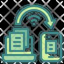 Online Transfer Data Icon