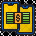 Online Transfer Money Transfer Money Mobilephone Icon