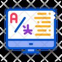 Computer Translation Program Icon