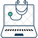 Online Treatment Secteshop With Laptop Ehealth Icon