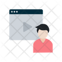 Online Tutorial Video Learning Icon