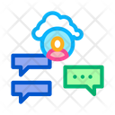 Online User Online Chat Cloud Icon