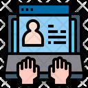 Online User Profile Computer Website Icon