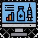 Online Vaccine Data Vaccine Data Vaccine Icon