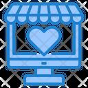 Online Valentine Shopping Shop Shopping Icon