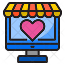 Online Valentine Shopping Icon