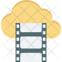 Cloud Streaming Reel Video Icon