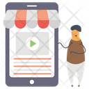 Online Video Video Marketing Digital Marketing Icon