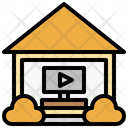 Videoroutine Real Estate House Icon
