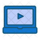 Online Video Laptop Home Icon