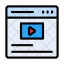 Online Video Video Browser Icon