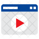 Online Video Online Movie Play Icon