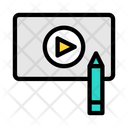 Online Video Video Learning Online Icon