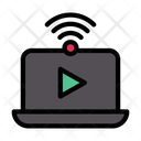 Online Video Video Wifi Video Icon