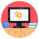 Online Tutorial Online Video Online Training Icon