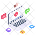 Online Streaming Live Streaming Online Video Icon