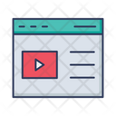 Web Browser Video Player Social Network Icon
