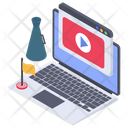 Online Video Blog Video Tutorial Video Guide Icon