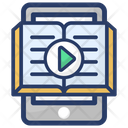Online Video Book E Book Online Journal Icon