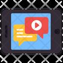Online Video Chat Online Video Message Online Video Conversation Icon