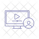 Online Video Communication Icon