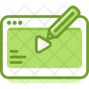 Online Video Edit Icon