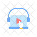 Online Video For E Learning Icon