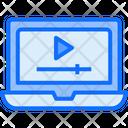 Online Video Learning Video Learning Online Learning Icon