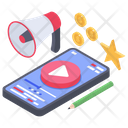 Online Video Marketing Video Advertising Video Streaming Icon