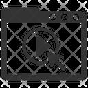 Online Video Tutorial Icon