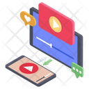 Online Video Streaming Video Tutorial Video Guide Icon