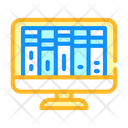 Online Library Color Icon