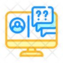 Online Communication Teacher Icon