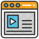Online Video Tutorial Icon